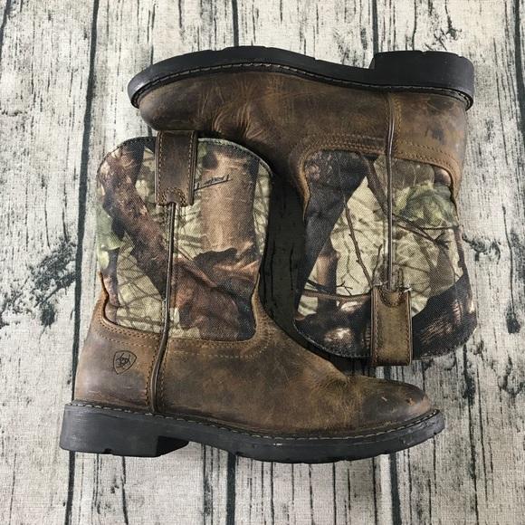 e5623113511 [Ariat] Sierra Boys Kids Western Work Boots